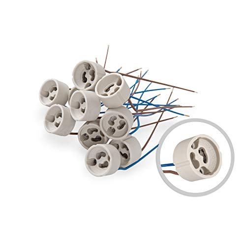 10 parti lampade alogene GU10 sostituito VDE alta tensione 190-230V ceramica