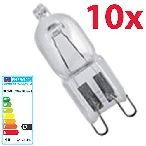 10 pcs Osram Halopin Eco alogena-lampadina 230 V G9, G9 48 wattsW 230 voltsV
