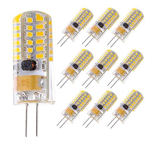 10 pezzi Lampadine a LED G4, 4W Sostituiscono le Lampade Alogene da 28 W, Sorgente Luminosa 12V AC/DC Bianco Caldo, 300LM Nessun Sfarfallio Non Dimmerabile Angolo Luce 360 ° Luce G4