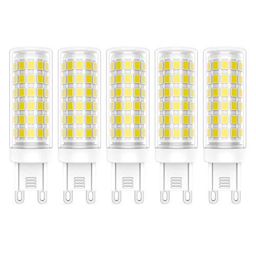 5X G9 LED Lampadine 9W Lampadina LED 76 SMD 2835LEDs Bianco Freddo 6000K Alta luminosità 800LM LED Lamps AC220V-240V