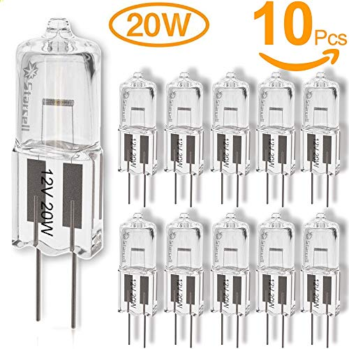 Act 10 pack Lampadina Halostar 12 V G4, Vetro, Chiara, 20 W, Confezione da 10 [Classe di efficienza energetica D]