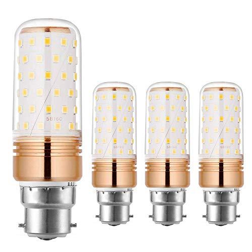 Ahevo 15W Lampadine LED B22, 100-120W lampadine a incandescenza equivalenti, bianco caldo, 1500Lm, non dimmerabili (3000K, confezione da 4)