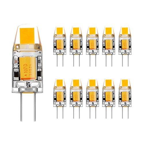 Ahevo G4 LED Lampadina ACDC 12V 2W 140LM bianca calda no dimmerabile 10pcs 3000K