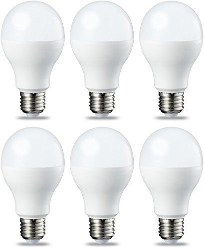AmazonBasics Lampadina LED E27, 14W (equivalenti a 100W), Luce Bianca Calda, Dimmerabile - Pacco da 6