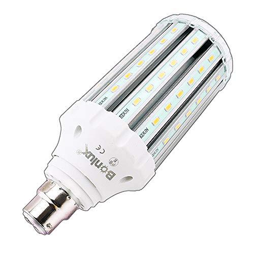 Bonlux Lampadina del cereale di 30W LED B22 caldo sostituzione Bianco 3000K 250W baionetta aC retrofit lampada del cereale del LED per il magazzino officina Fienile giardino Percorso Illuminazione