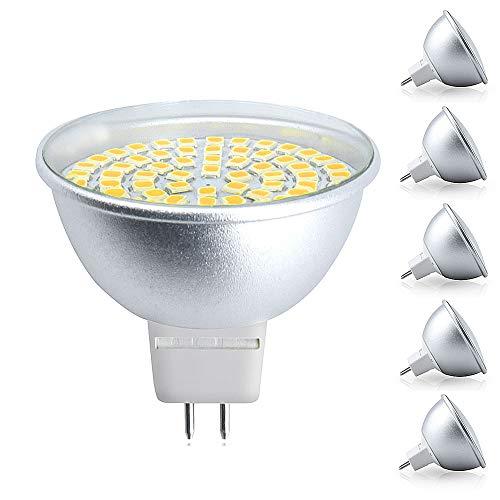 Bonlux Lampadine a LED MR16 GU5.3 GX5.3 240V 5W Lampadine per Faretti a Soffitto Bianco Caldo 3000K Angolo a 120 ° Lampadina Alogena con Riflettore Alogeno da 50W Sostitutiva(Non Dimmerabile, 5pz)
