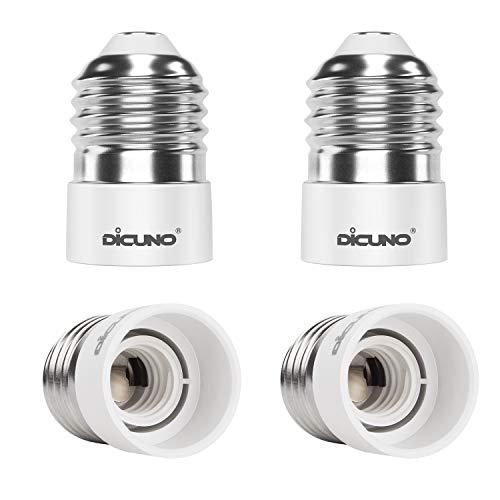 DiCUNO 4-Pack E27 a E14 Socket Converter Socket Adapter Adattatore di base per lampada di alta qualità per lampadine a LED e lampadine a incandescenza e lampadine CFL