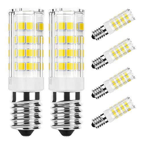 DiCUNO E14 LED Lampadina 4W (equivalente alogeno 40W), 400LM, Bianco freddo (6000K), base in ceramica E14, piccola vite Edison non regolabile per illuminazione domestica, 6 pacchi