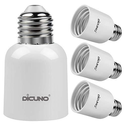 DiCUNO E27 a E40 Socket Converter Adattatore socket da 4-pack Adattatore di base per lampada di alta qualità per lampadine a LED e lampadine a incandescenza e lampadine CFL
