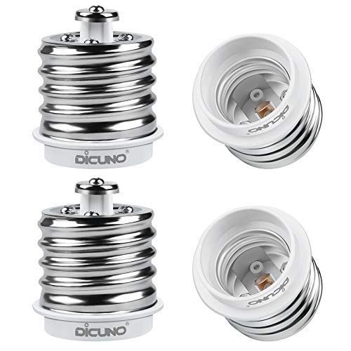 DiCUNO E40 a E27 Socket Converter Adattatore socket da 4-pack Adattatore di base per lampada di alta qualità per lampadine a LED e lampadine a incandescenza e lampadine CFL