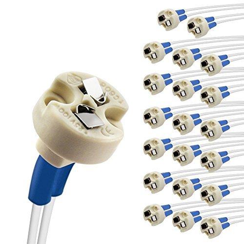 DiCUNO G4 base lamp holder, G6.35, GY6.35, GX5.3 MR16, GZ4 MR11, alogena a incandescenza LED presa in ceramica cavo di collegamento presa base 50 pcs