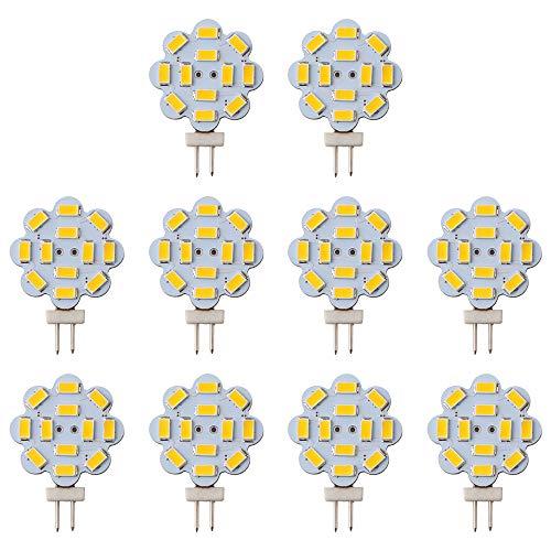 GLL - Confezione da 10 lampadine LED G4 da 2 W, 5730, 12 SMD, G4 Bi-Pin, 240 lumen, non dimmerabili, 12 V DC, 2700 K, luce bianca calda