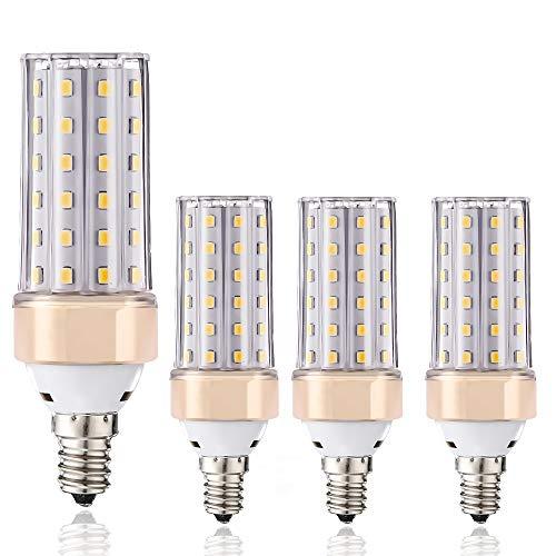 ILAMIQI - Lampadine a LED E14, 10 W, equivalenti a 100 Watt, 1200 lm, base decorativa a candela, dimmerabile, luce bianca calda 3000 K, confezione da 4 …
