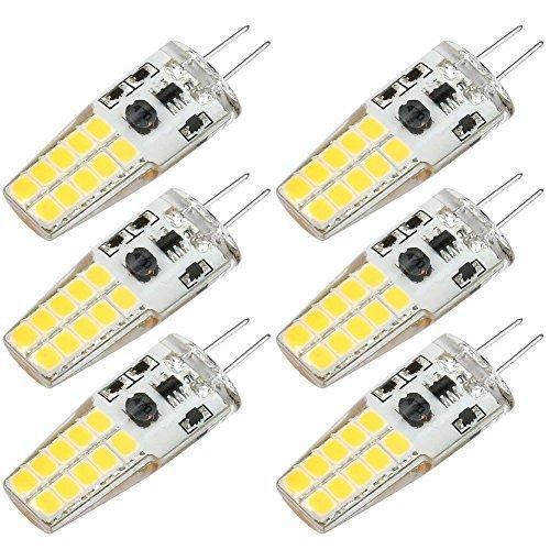 Kakanuo Lampadine LED G4 3W Equivalenti a 30W Bianco Caldo 3000K 300LM Non-Dimmerabile 360 Grado AC/DC10-20V 6Pezzi