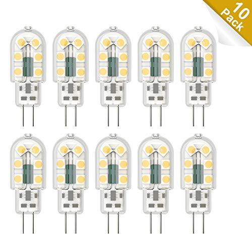 Klighten G4 LED Lampadina, 10 Pezzi 3W G4 Lampada, AC/DC 12V Lampadina, 3W Equivalenti a 25W Lampada Alogena, Bianco Naturale 4000K