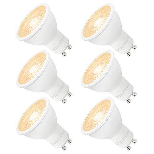Lampade Lampadine Faretti a LED Attacco GU10 Dimmerabili 7W Spot GU10 LED Luce Calda 3000K Alta Luminosità Sostituire Lampada Alogena Lot di 6 di Enuotek