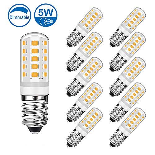 Lampadina LED E14 Eofiti Dimmerabile Lampade 420LM 5W pari a 40W Luce Bianca Calda 2700k RA83 AC 230V Mais Lampadario Candelabro (Pack da 10) [Classe di efficienza energetica A+]