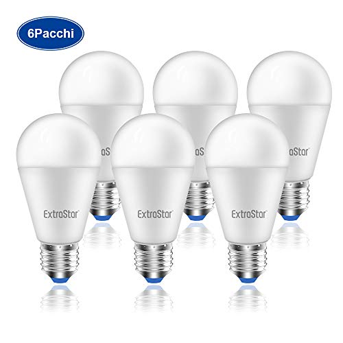 Lampadina LED E27, 15W (equivalenti a 120W), 6500K 1200 lumen,luce bianca fredda - Pacco da 6