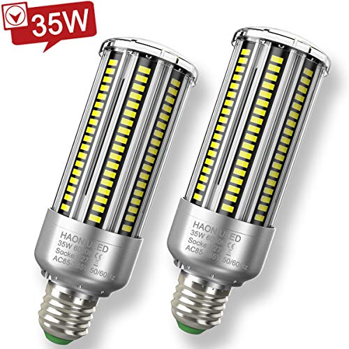 Lampadina LED E27 35W Luce Bianca Fredda 6500K 4000LM Lampadine Mais Led E27 Equivalenti a 300W Incandescenza, Lampadine E27 Led Pannocchia Lampada Lampadina Non Dimmerabile - 2 Pezzi