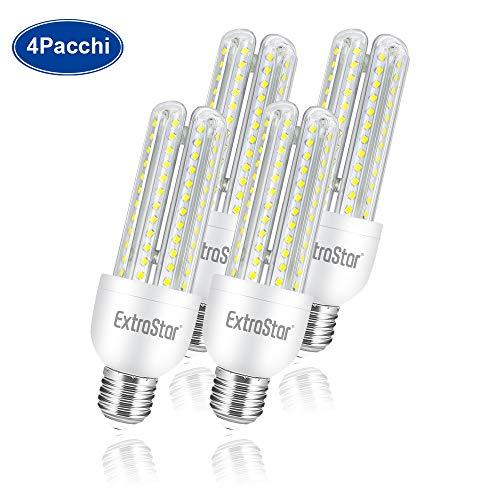 Lampadina LED E27,lampadine LED di mais, candelabro a LED E27, 16W (equivalenti a 128W), 6500K 1440 lumen,luce bianca fredda - Pacco da 4.