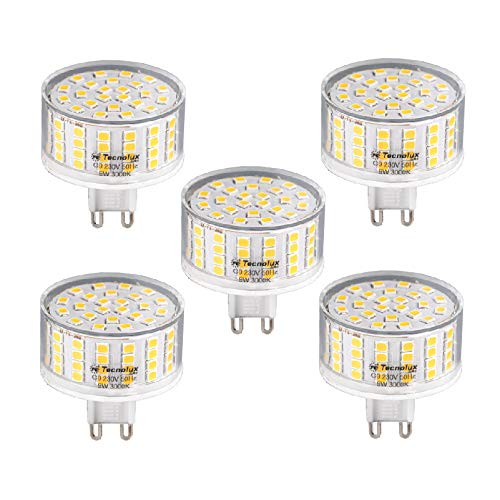 Lampadina LED G9 220 V 6000 K luce fredda 9 W (5 unità)