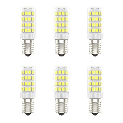 Lampadine a LED E14, Senza Sfarfallio, AC220-240V, 5W (Equivalente a 50W), Bianco Freddo (6000K), 420 Lumen, CRI>80, Non Dimmerabile, Pacco da 6 - (Bianco Freddo, 5W)