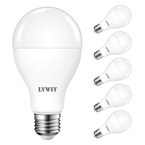 Lampadine LED E27,LVWIT A67,15W Equivalenti a 120W,6500K Luce Bianca Fredda,1900LM,Non dimmerabile,Lampada LED a Risparmio Energetico,Consumo Basso,Pacco da 6 Pezzi