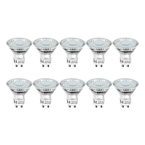 LE lampadine led Gu10 4W, 4W Pari ad alogene da 50Watt, Faretto LED 350 lumen, Luce Bianca Diurna 5000K, Confezione da 10