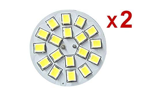LEDLUX 2 Lampadine LED G4 Bispina DC AC 12V 24V 3W Bianco Caldo 3000K Attacco Centrale 18 SMD 2835
