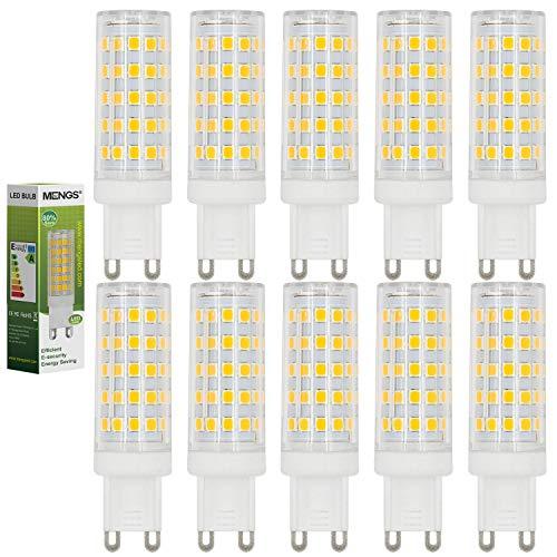 MENGS 10 pezzi Lampadine a LED G9 10W (Equivalente a 80W) , Lampada a LED, Blanco Cálido 3000K, AC 220-240V, 800LM Luce a LED