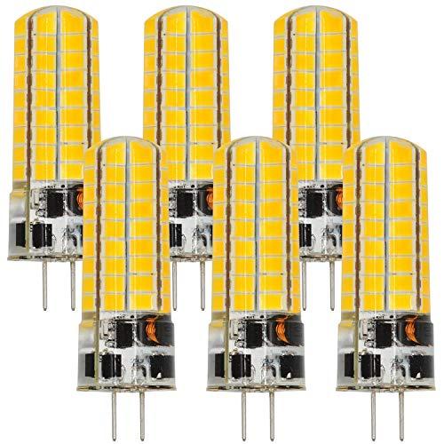 MENGS 6 pezzi G4 6W Lampadine a LED AC/DC 12V Lampada a LED Bianco caldo 3000K Con materiale in silicone Luce a LED