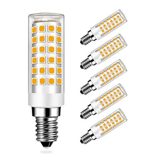 MENTA Lampadina LED E14 9W Equivaleni a 75W, Bianca Caldo 3000K, 750LM, Non-Dimmerabile, AC220-240V, 360 Angolo a fascio, Lampadine LED E14 SES, 5 Pezzi