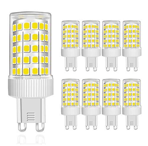 MENTA Lampadine LED G9 10W Equivalente a 80W, 800Lm, LED Mais lampadina G9 10W, Non Dimmerabile, Luce Bianca Fredda 6000K, 220-240 VAC, Risparmio Energetico Lampadine LED, lampade luci, 8 pezzi