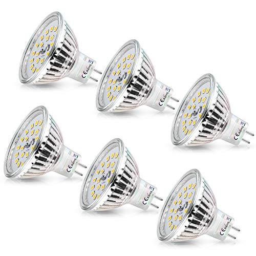 MR16 Lampadine LED GU5.3 Faretto a LED Wowatt 12V 480lm Lampadina 6W equivalenti a Alogene 40W Luce Bianca Calda 2800K Lampade Non Dimmerabili 82 RA 6 Pezzi