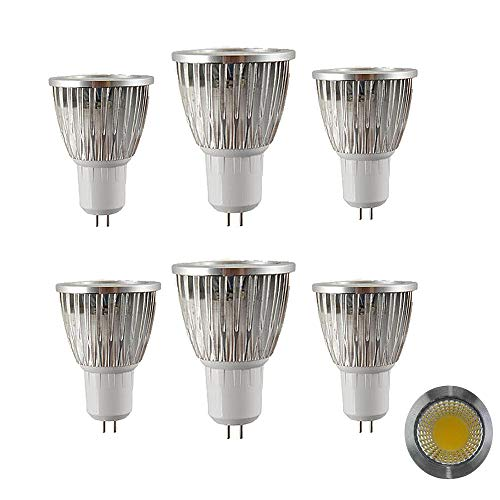 NUOXIN 6 Pezzi MR16 LED Lampadina 6W GU5.3 LED Light, 60W MR16 Halogen Light Equivalent, Bianca Calda 3000k MR16 LED Spotlight, 600 Lumen Non dimmerabile AC220-240v