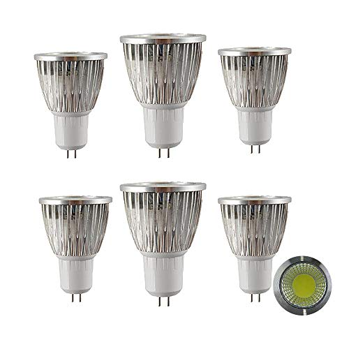 NUOXIN 6 Pezzi MR16 LED Lampadina 6W GU5.3 LED Light, 60W MR16 Halogen Light Equivalent, Bianca Fredda 6000k MR16 LED Spotlight, 600 Lumen Non dimmerabile AC220-240v
