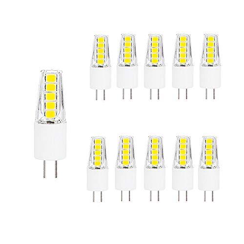 NUOXIN Confezione da 10 lampadine LED G4 2W Bianco Freddo 6000K G4 SMD 2835 Lampadine LED Super Brillanti 200lm Equivalenti G4 20W Lampadine Alogene AC220-240V Non Dimmerabile