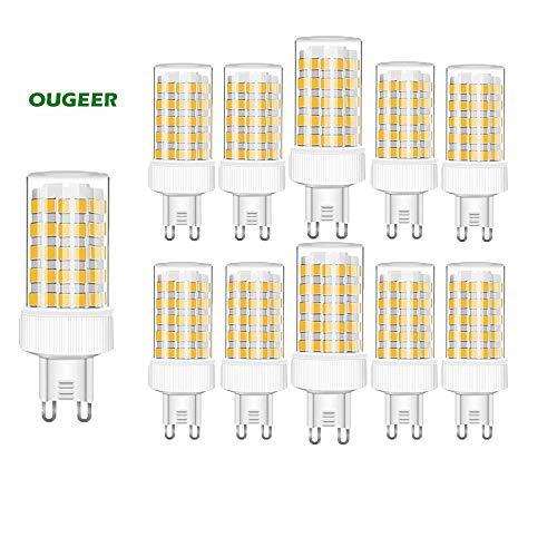NUOXIN Confezione da 10 Lampadine LED G9 10W, 1000 Lumen (Equivalente alla lampadina alogena G9 100w) G9 10W Bianca Calda 3000K AC 220-240V Non Dimmerabile