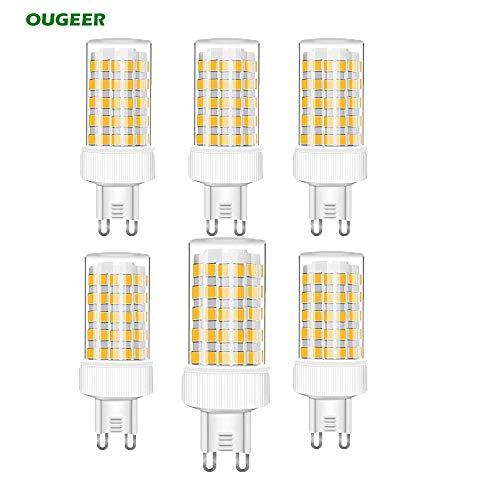 NUOXIN Confezione da 6 Lampadine LED G9 10W, 1000 Lumen (Equivalente alla lampadina alogena G9 100w) G9 10W Bianca Calda 3000K AC 220-240V Non Dimmerabile