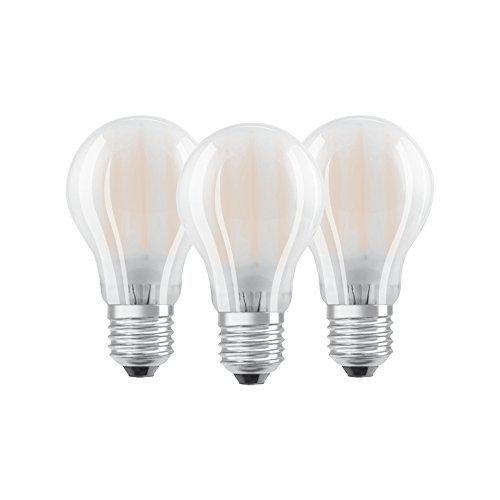 Osram BASE CLAS A Lampada LED E27, 7 W, Luce Calda, 3 Lamp