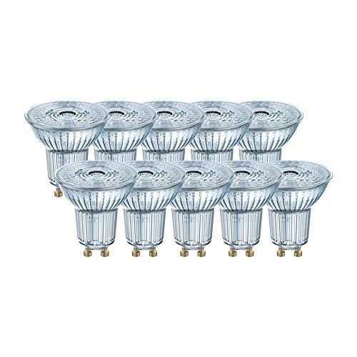 Osram BASE PAR 16 Lampada LED GU10, 4.3 W, Luce Neutra, 10 Lamp