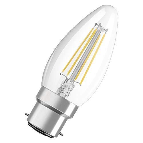 OSRAM Candela Lampadine LED, 4 W Equivalenti 40 W, Attacco B22d, Luce Calda 2700K, Confezione da 10 Pezzi