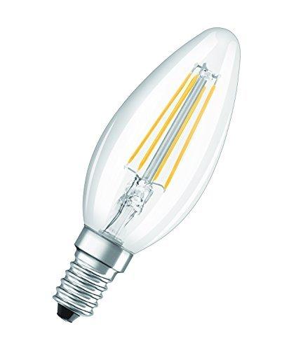 OSRAM Candela Lampadine LED, 4 W Equivalenti 40 W, Attacco E14, Luce Calda 2700K, Confezione da 10 Pezzi