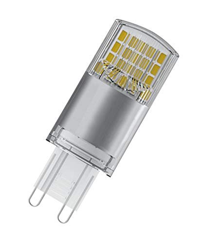 OSRAM Capsula Lampadine LED, 3.8 W Equivalenti 40 W, Attacco G9, Luce Calda 2700K, Confezione da 10 Pezzi