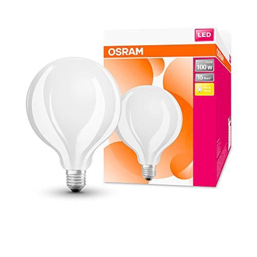 OSRAM Globo Lampadina LED, 11 W Equivalenti 100 W, Attacco E27, Luce Calda 2700K, Confezione da 1 Pezzo