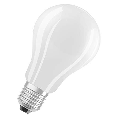 OSRAM Goccia Lampadine LED, 15 W Equivalenti 150 W, Attacco E27, Luce Calda 2700K, Confezione da 10 Pezzi