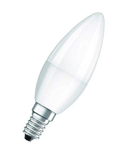 Osram Lampadine LED Candela, 5W Equivalenti 40W, Attacco E14, Luce Naturale 4000K, Confezione da 5