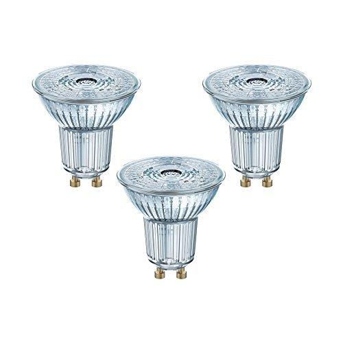 Osram Lampadine LED Spot PAR16, 4.3 W Equivalenti 50W, Attacco GU10, Luce Naturale 4000K, Confezione da 3