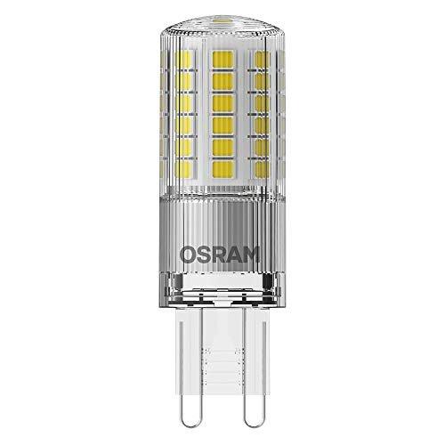 OSRAM LED PIN G9 Confezione da 10 x LED PIN G9, Lampada LED: G9, 3.80 W = Equivalente a 40 W, Bianco Freddo, 4000 K, Chiaro, Taglia Unica