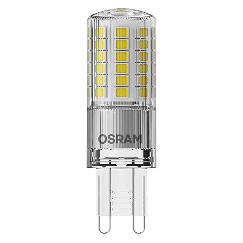OSRAM LED PIN G9 Confezione da 10 x LED PIN G9, Lampada LED: G9, 4.80 W = Equivalente a 48 W, Bianco Caldo, 2700 K, Chiaro, Taglia Unica